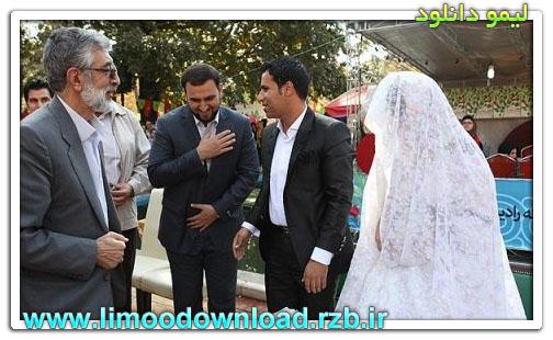 حداد عادل در مراسم عقد کنان + تصویر